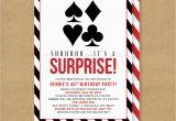 Poker Birthday Party Invitations Poker theme Surprise Party Printable Birthday Invitation