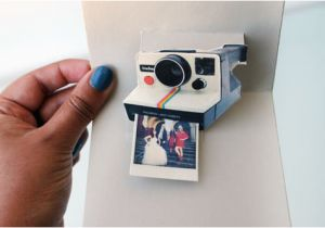 Polaroid Camera Pop Up Birthday Card with Printable Template How to Make A Diy Polaroid Pop Up Card