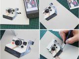 Polaroid Camera Pop Up Birthday Card with Printable Template How to Make A Diy Polaroid Pop Up Card