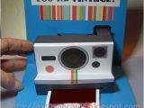 Polaroid Camera Pop Up Birthday Card with Printable Template Polaroid Camera Pop Up Card Tutorial