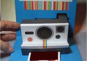 Polaroid Camera Pop Up Birthday Card with Printable Template Polaroid Camera Pop Up Card Tutorial