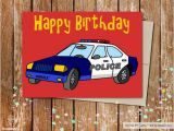 Police Birthday Cards Birthday Boypolice Printable Cardprintable Birthday