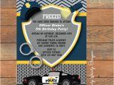 Police Birthday Cards Items Similar to Police Birthday Invitation Printable On Etsy