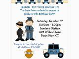 Police Birthday Cards Police Birthday Invitations Birthday Party Invitation