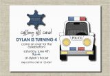 Police Birthday Cards Police Birthday Party Invitation