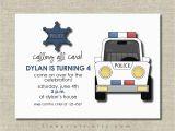 Police Birthday Cards Police Birthday Party Invitation