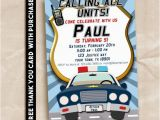 Police Birthday Cards Police Birthday Party Invitation Printable Digital 5×7 Free