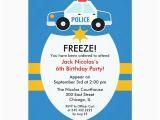 Police Birthday Cards Police Birthday Party Invitation Zazzle Com