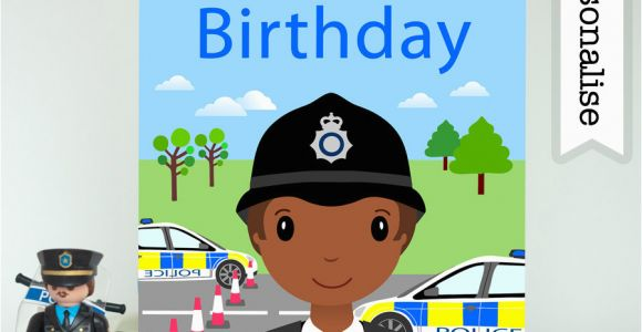 Police Birthday Cards Police Officer Firefighter Birthday Card Personalised Kids
