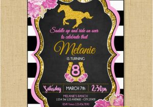 Pony Ride Birthday Invitations Horseback Riding Birthday Invitation Horse Birthday Pony