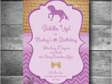 Pony Ride Birthday Invitations Horseback Riding Invitation Pony Party Invitation Diy Horse