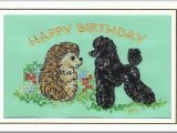 Poodle Birthday Cards Standard Poodle Birthday Card Embroidered by Dogmania 8 X6