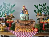 Pooh Bear Birthday Decorations Kara 39 S Party Ideas Rustic Winnie the Pooh First Birthday