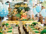 Pooh Bear Birthday Decorations Kara 39 S Party Ideas Winnie the Pooh 1st Birthday Party