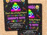 Poop Emoji Birthday Invitations Emoji Invitations Emoji Birthday Invitations Poop Emoji