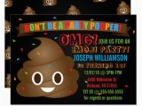 Poop Emoji Birthday Invitations Funny Poop Emoji Birthday Party Invitation Zazzle Com