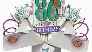 Pop Up 80th Birthday Cards 80th Pop Up Birthday Card Find Me A Gift