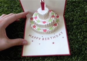 Pop Up Birthday Card Template Cake Pattern Www Pixshark Com