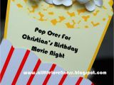 Popcorn Birthday Invitations A Little Loveliness Popcorn Movie Party Invitation Tutorial