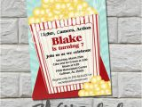 Popcorn Birthday Invitations Popcorn Birthday Invitation Do It Yourself Digital Print