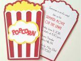 Popcorn Birthday Invitations Popcorn Invitation Pack Of 10 by Bellybeancards On Etsy