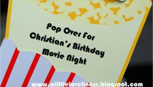 Popcorn Birthday Party Invitations A Little Loveliness Popcorn Movie Party Invitation Tutorial