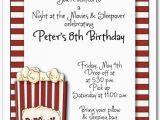 Popcorn Birthday Party Invitations Box Of Popcorn Party Invitation Movie Invitation