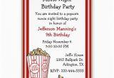 Popcorn Birthday Party Invitations Fun Popcorn Birthday Party Invitation 5 Quot X 7 Quot Invitation