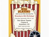 Popcorn Birthday Party Invitations Movie Popcorn Kids Birthday Invitation 5 Quot X 7 Quot Invitation