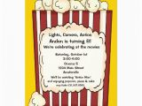 Popcorn Birthday Party Invitations Personalized theatre Invitations Custominvitations4u Com