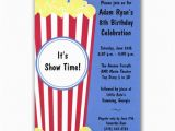 Popcorn Birthday Party Invitations Popcorn and Movie Birthday Invitations Paperstyle