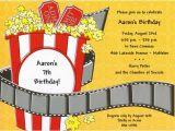 Popcorn Birthday Party Invitations Popcorn Movie Birthday Invitations Paperstyle