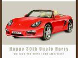 Porsche Birthday Card Personalised Porsche Birthday Card by Amanda Hancocks