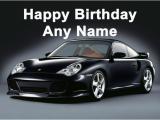 Porsche Birthday Card Porsche Black Birthday Card
