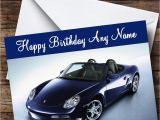 Porsche Birthday Card Porsche Boxter Blue Personalised Birthday Card the Card Zoo