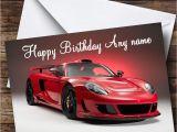 Porsche Birthday Card Porsche Carrera Gt Red Personalised Birthday Card the