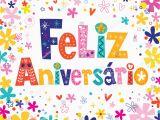Portuguese Birthday Cards Feliz Aniversario Portuguese Happy Birthday Card Vectores