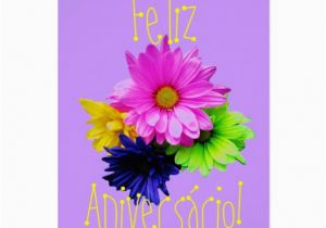 Portuguese Birthday Cards Parabens Para Uma Menina Card Zazzle