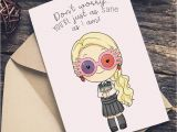 Postal Birthday Gifts for Him Luna Lovegood Harry Potter Greeting Card Happy Birthday or
