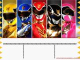 Power Rangers Birthday Invitation Template Free Templates