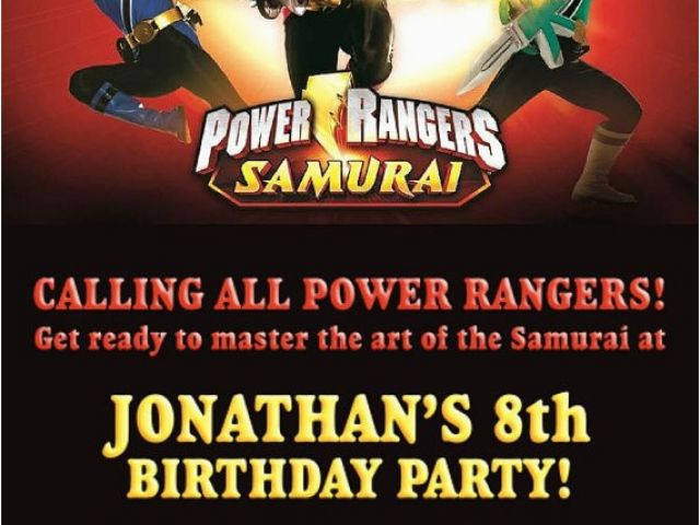 Download By SizeHandphone Tablet Desktop Original Size Back To Power Rangers Birthday Invitation Template