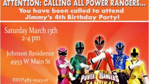 Power Rangers Birthday Invitation Template Power Rangers Birthday Invitations Ideas Bagvania Free
