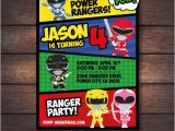 Power Rangers Birthday Invitation Template New Party Supplies With Make Your