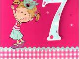 Prayer for 7th Birthday Girl Girls 7th Birthday 3d 7 Seven today Card Childrens Kids