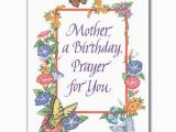 Prayer for A Birthday Girl Mother A Birthday Prayer for You Birthday Card