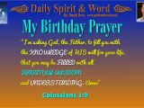 Prayer for A Birthday Girl My Birthday Prayer Daily Spirit and Word