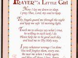 Prayer for Birthday Girl Prayer for A Little Girl Wall Plaque