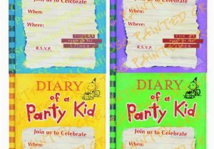 Pre Printed Birthday Invitations Diary Of A Whimpy Kid Party Etsy