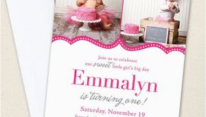 Pretty In Pink Birthday Party Invitations Pretty In Pink Party Photo Invitations Professionally