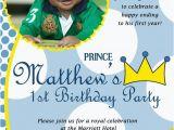 Prince 1st Birthday Invitations Items Similar to Little Prince Custom Digital Photo